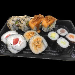 12 piezas de sushi 15€