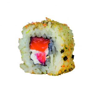 uramaki de salmón furikake